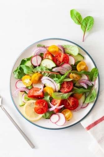Une assiette végétalienne